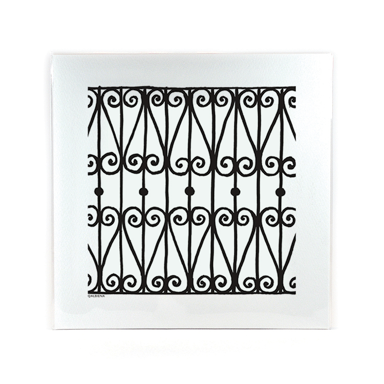 Wrought Iron Qalbiena Print