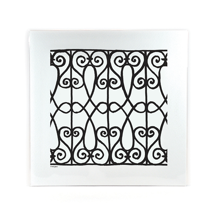 Wrought Iron Twajba Print