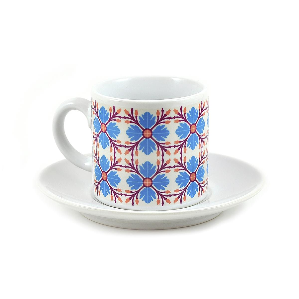 Malta Tile Espresso Cup & Saucer, pattern no.9