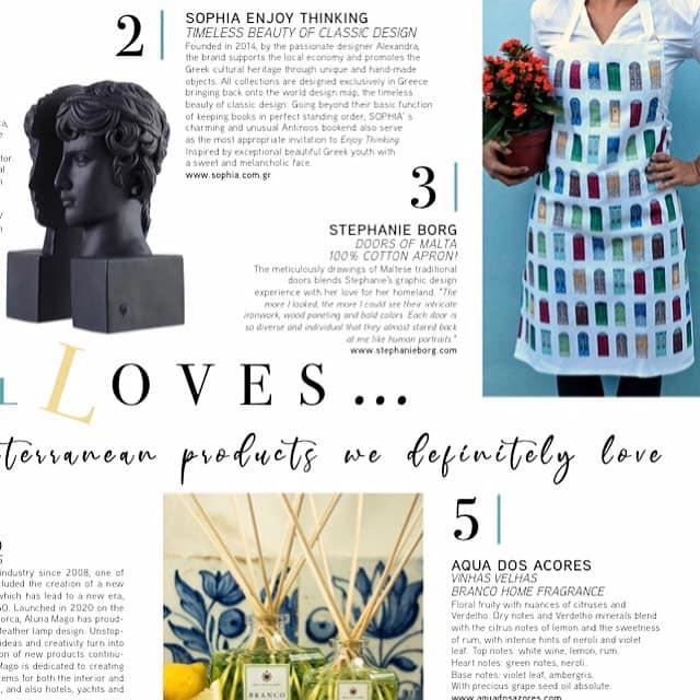 Featured on TML – The Mediterranean Lifestyle Magazine
