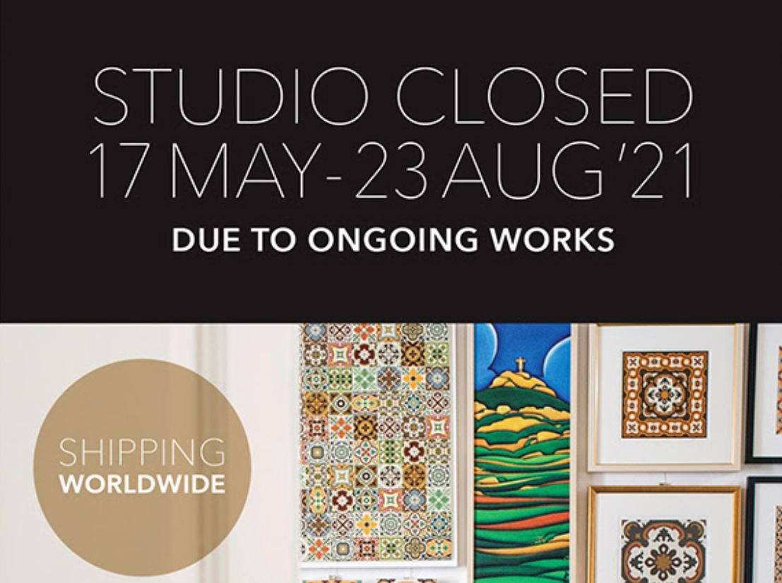 Important Notice – Studio temporarily closed for ongoing works